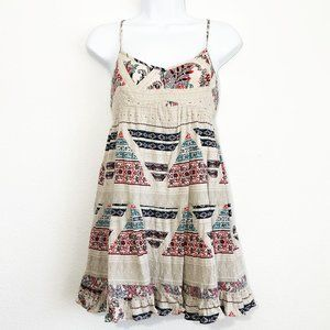 American Eagle Floral Babydoll Dress Women's Small